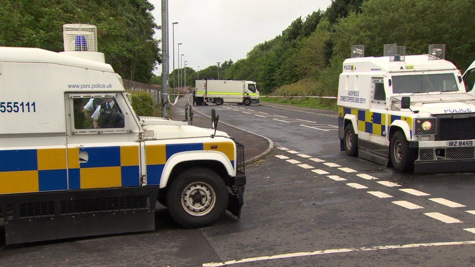 Part of Southway was cordoned off while the hide was examined by Army bomb disposal officers
