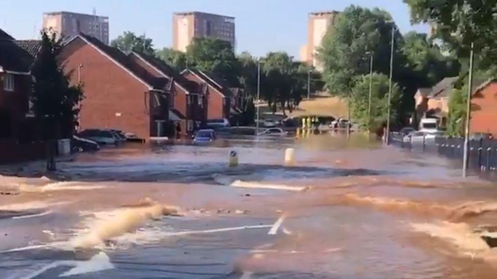 Flooding in Wheeler Street., Birmingham