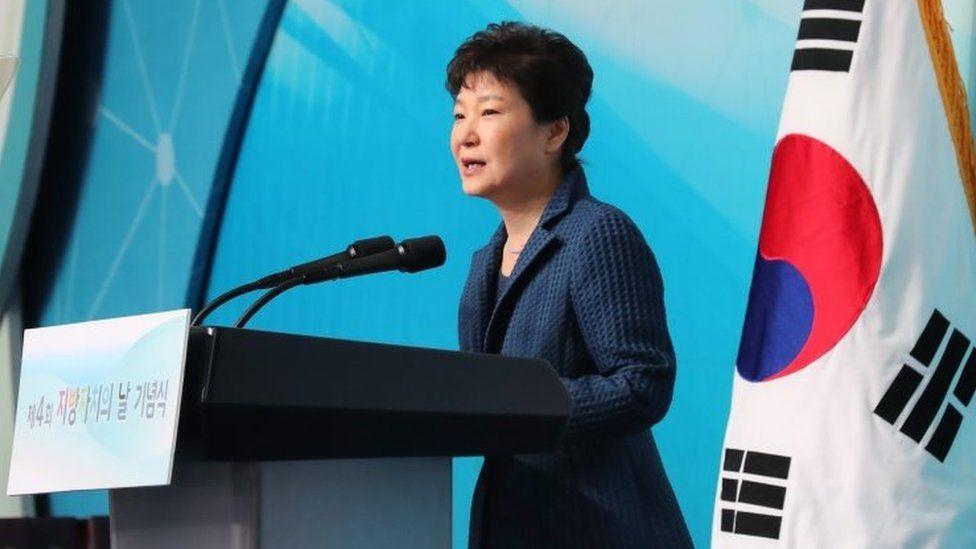 South Korean President Park Geun-hye. Photo: 27 October 2016