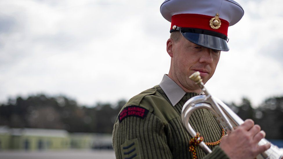 Sergeant Bugler Jamie Ritchie, I/C Corps of Drums, Royal Marines