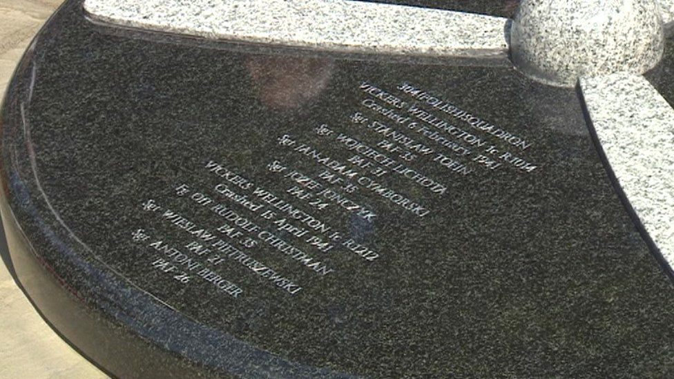 Close-up of the memorial