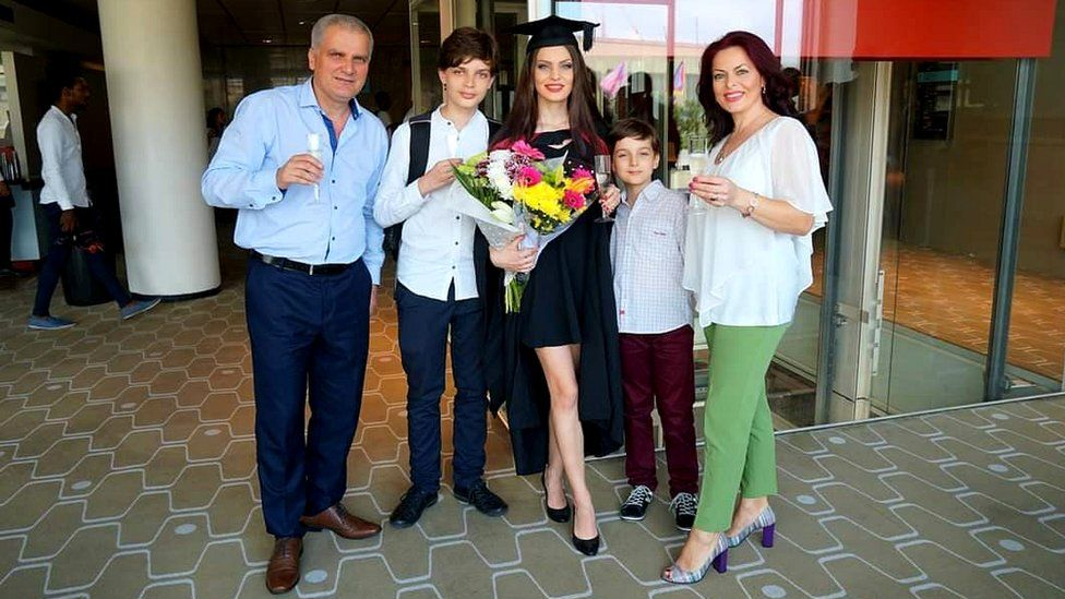 Image shows Catalina at her graduation in London