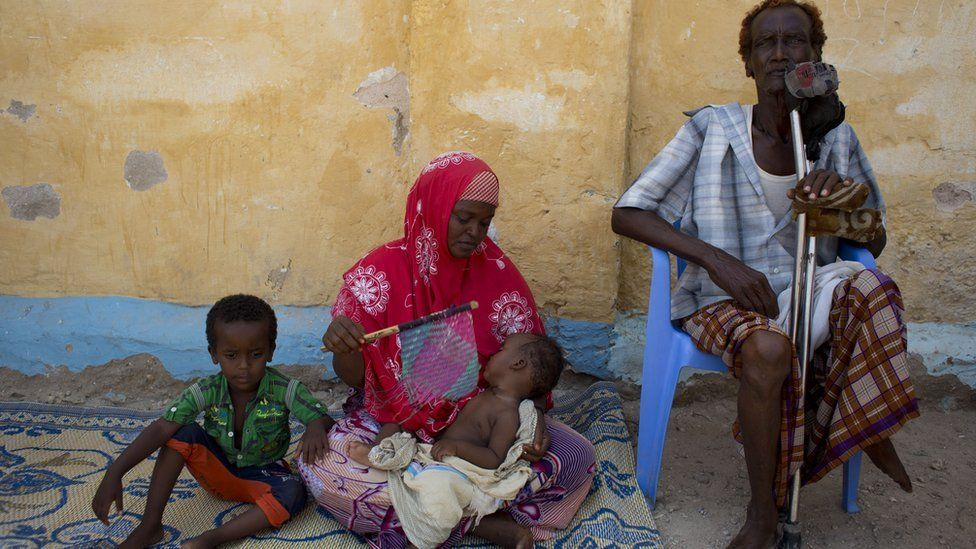 Amina Ahmed Osman and her family, Bossasso, Somalia