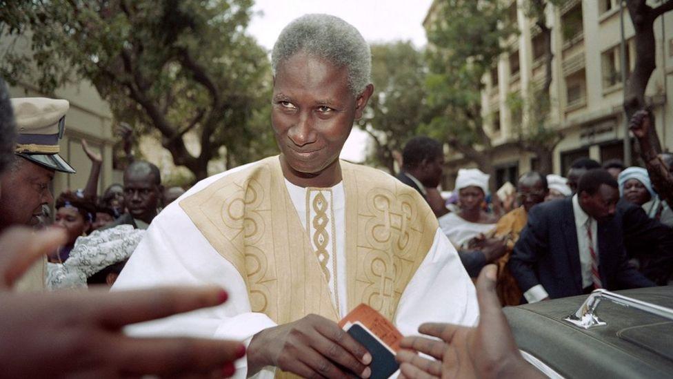 Abdou Diouf, président du Sénégal de 1980 à 2000