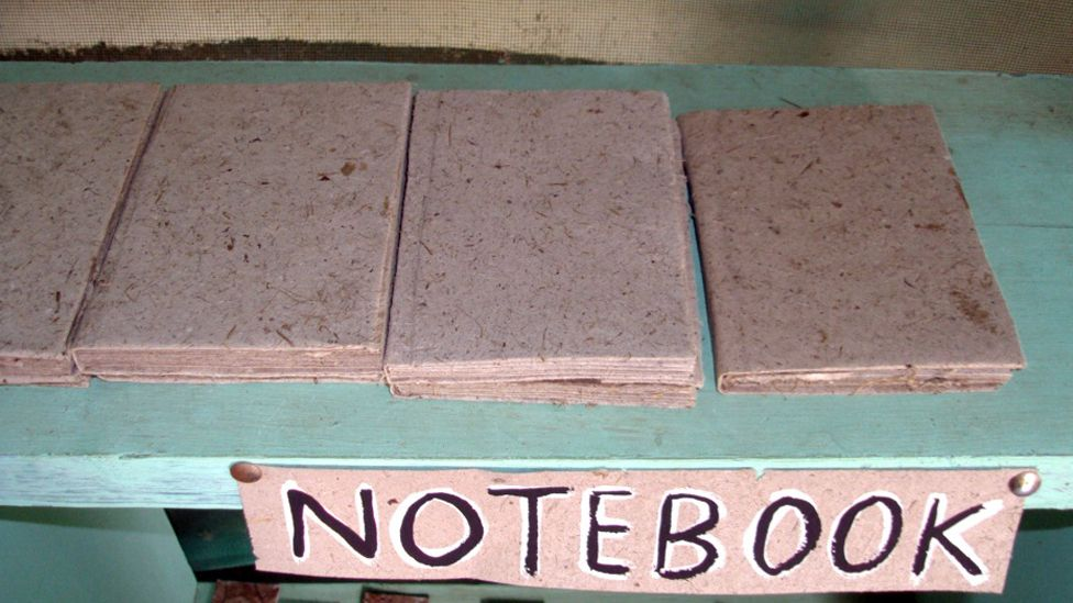 A notepad made from elephant dung