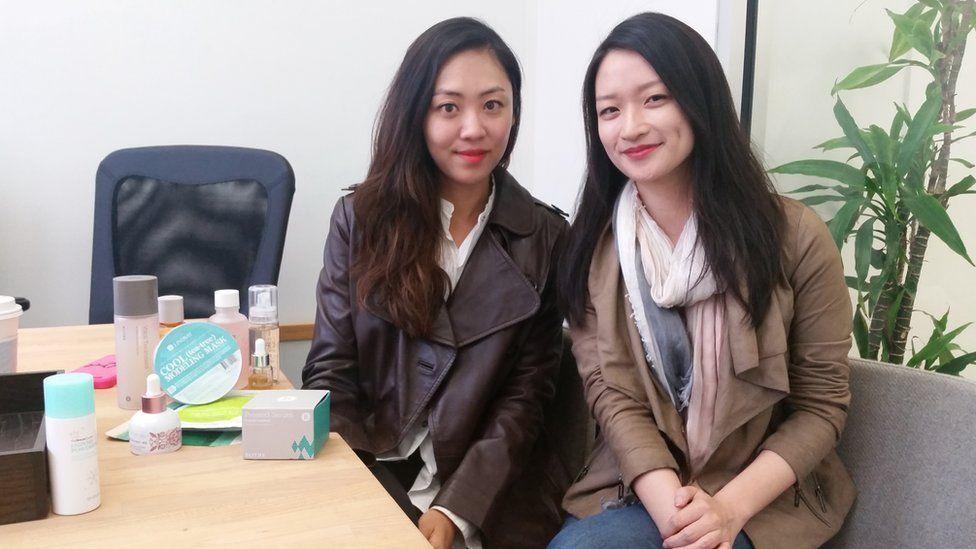 Sarah Lee (left) and Christine Chang