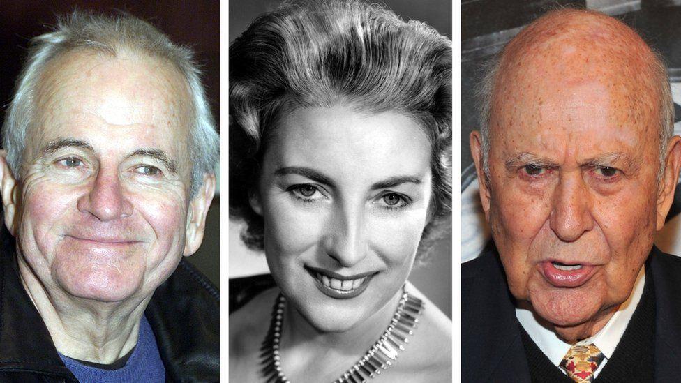 Sir Ian Holm, Dame Vera Lynn and Carl Reiner