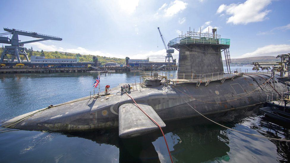 UK nuclear submarines at Faslane in Scotland,