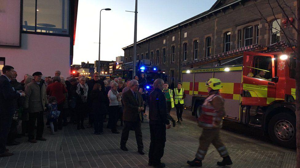 Theatre goers outside Perth Theatre