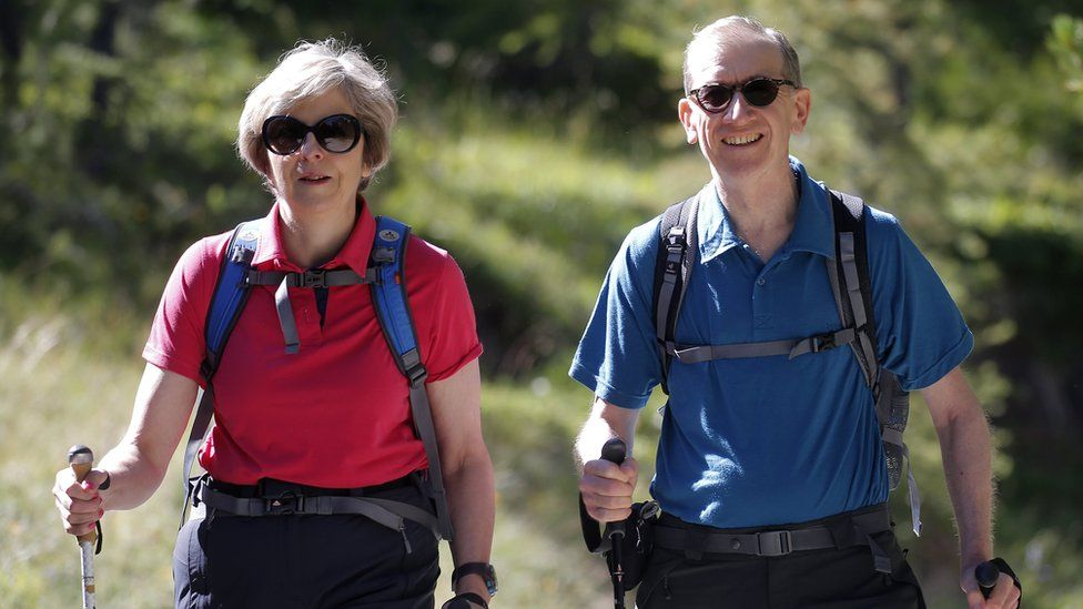 Theresa and Philip May in Switzerland