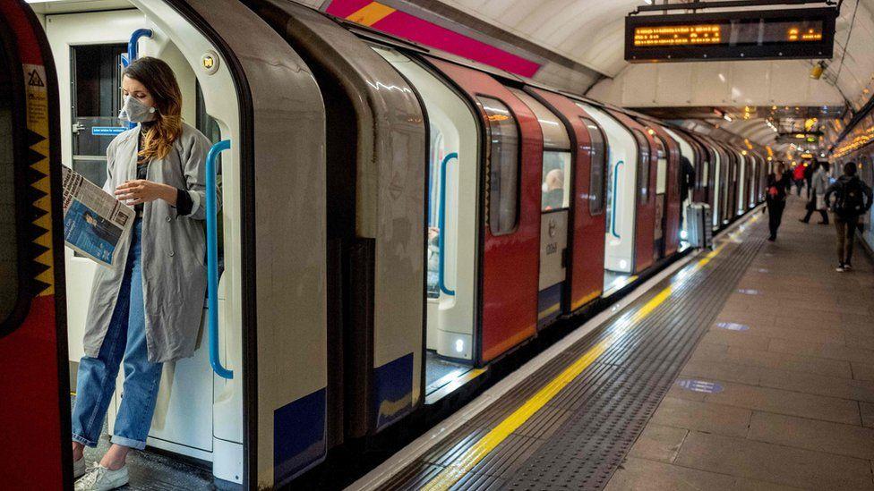 commuter on London underground