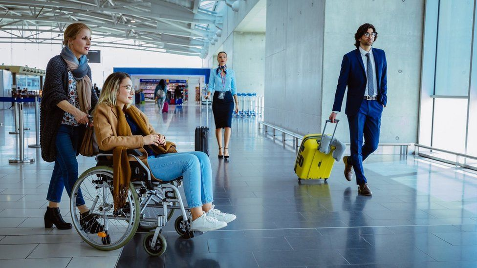 Airports make 'significant' progress helping disabled