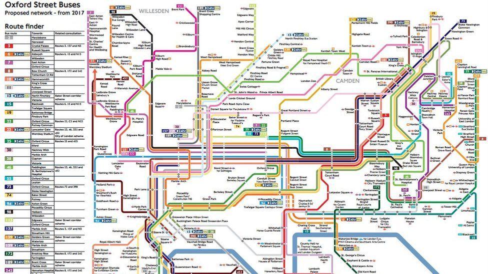 TfL Bus route map