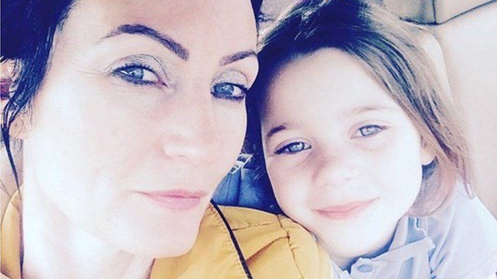 Karen Land and her daughter