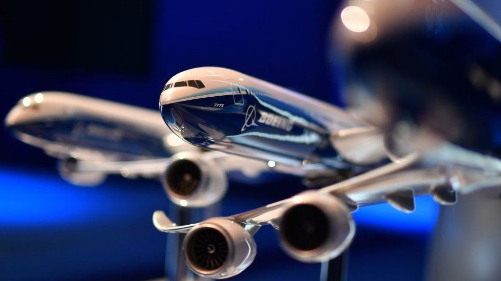 Models of Boeing aircraft