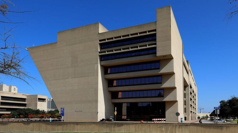 Dallas City Hall, designed by architects I M Pei and Theodore J Musho