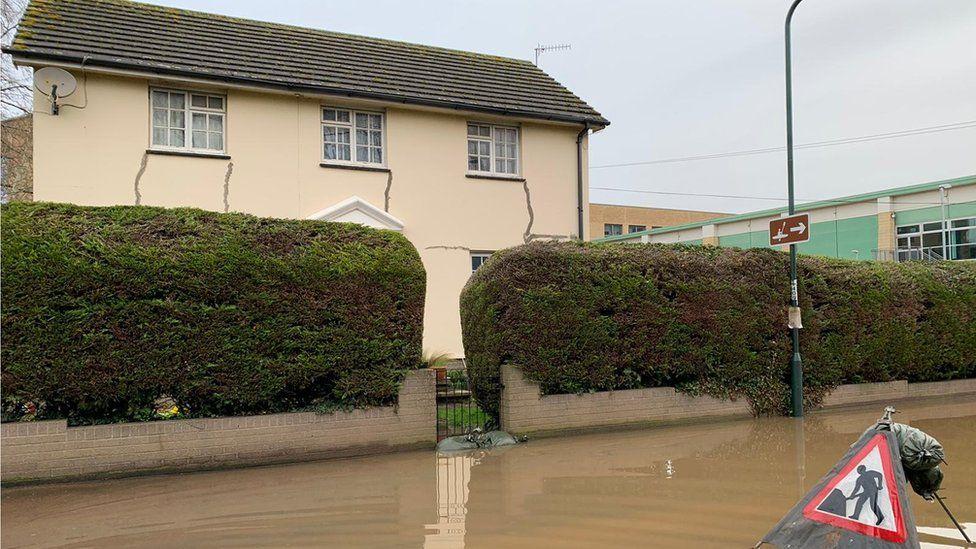 Flood near house in Monmouth