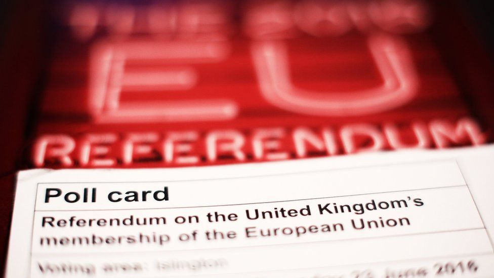 A polling card and voting guide for the 2016 EU referendum in the UK
