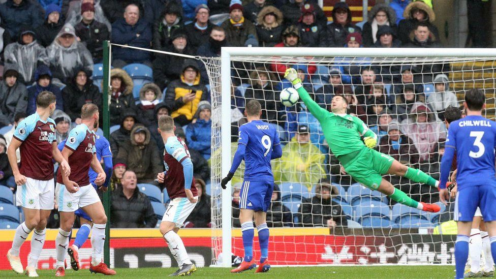 James Maddison of Leicester City scores against Burnley