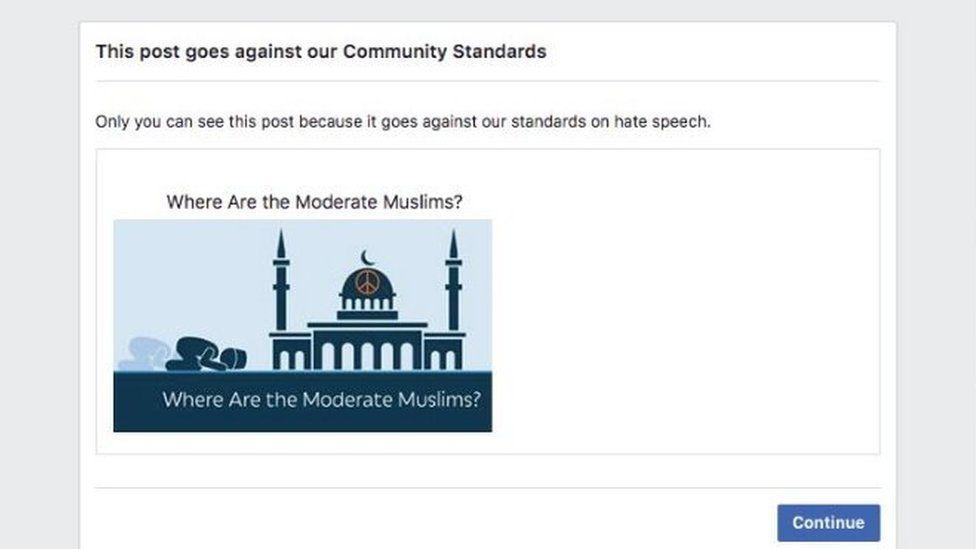 Muslim video notice
