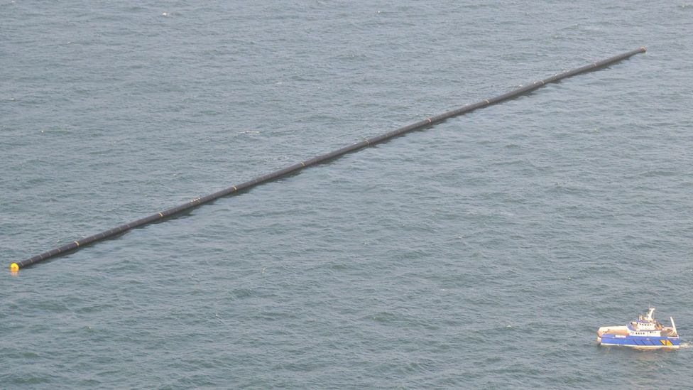 A large pipe at sea
