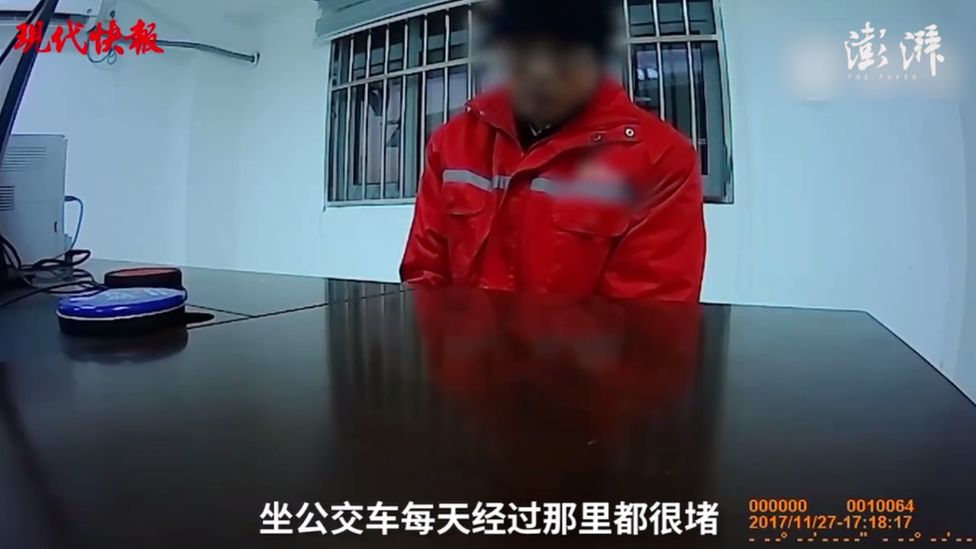 Mr Cai told police why he had painted on the road