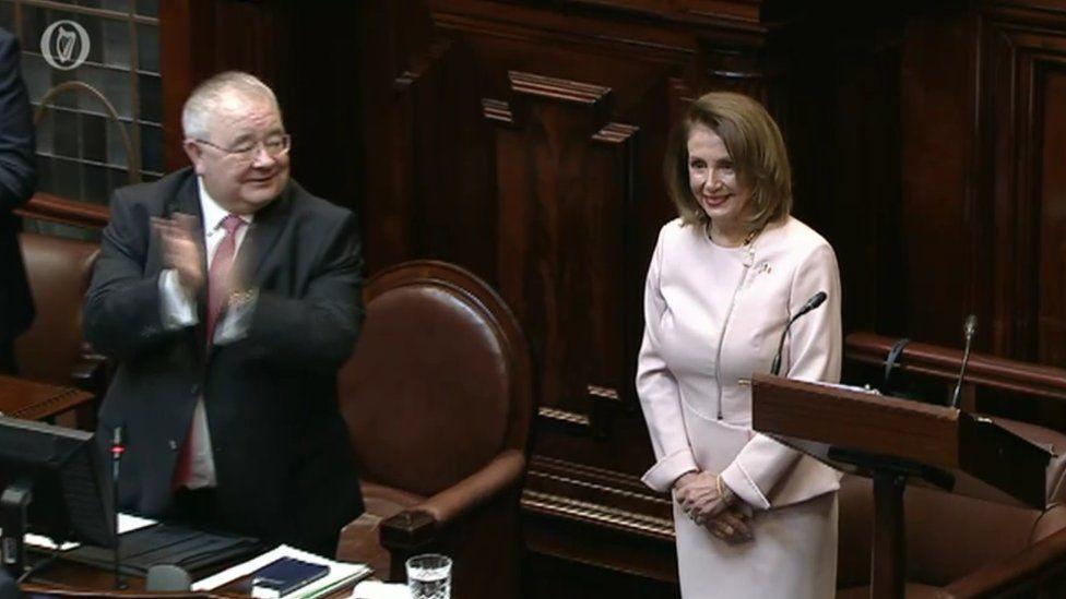 Nancy Pelosi in the Dáil
