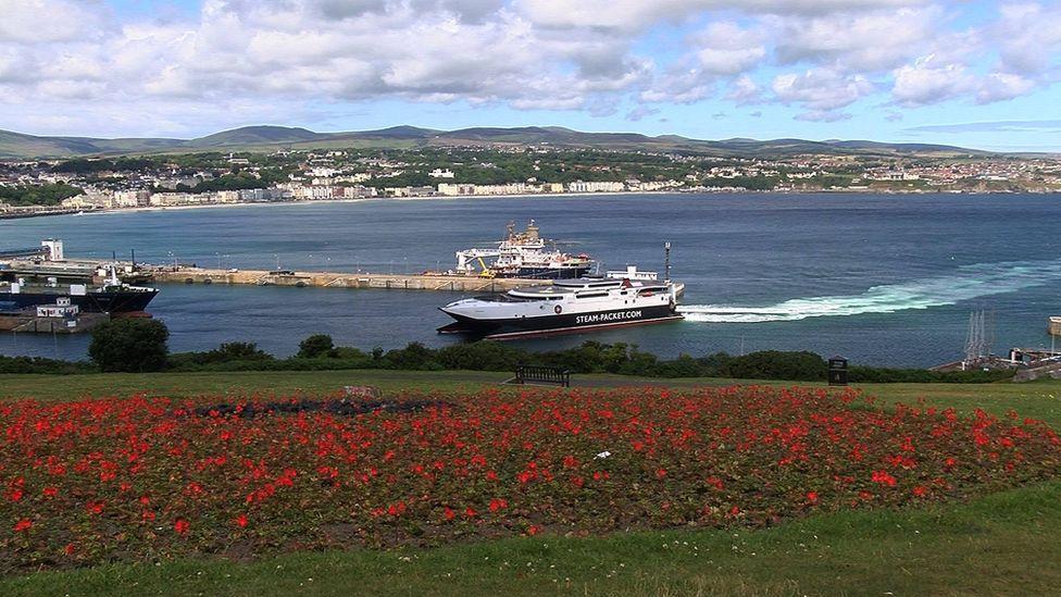 Isle of Man ferry in Douglas harbour