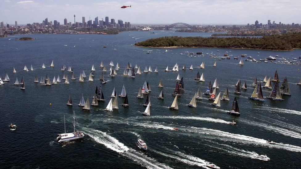 Australia's famous yacht race begins in Sydney Harbour on Boxing Day