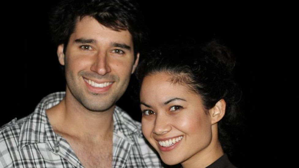 Cliff Obrecht and Melanie Perkins back in their early 20s