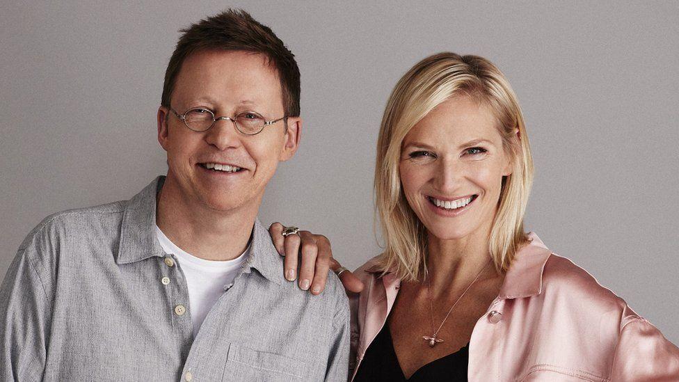 Jo Whiley and Simon Mayo