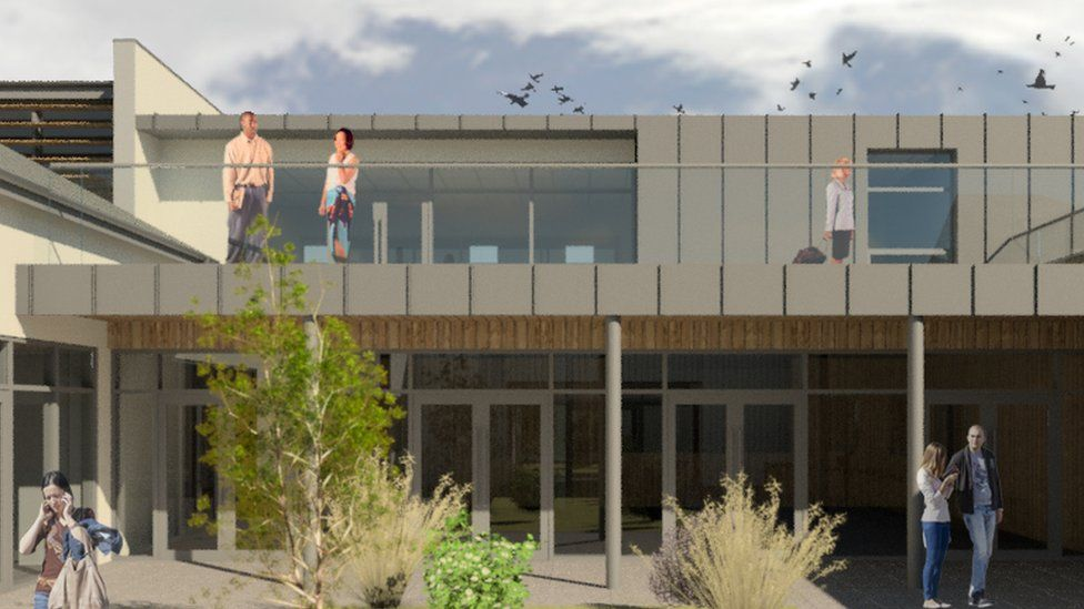 An artist's impression of how the hospice will look after the work is complete