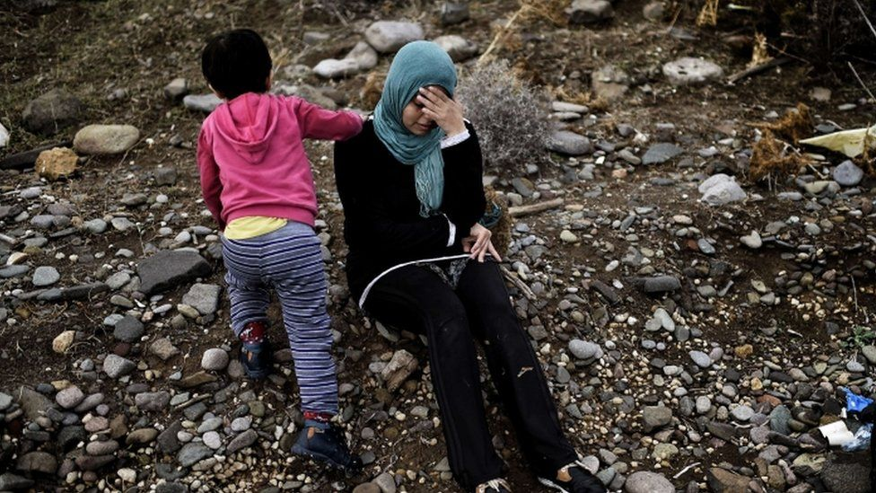 Two Syrian refugees