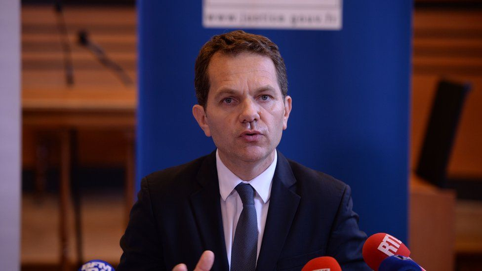 Blois prosecutor Frédéric Chevallier giving a press conference 14 June 2018