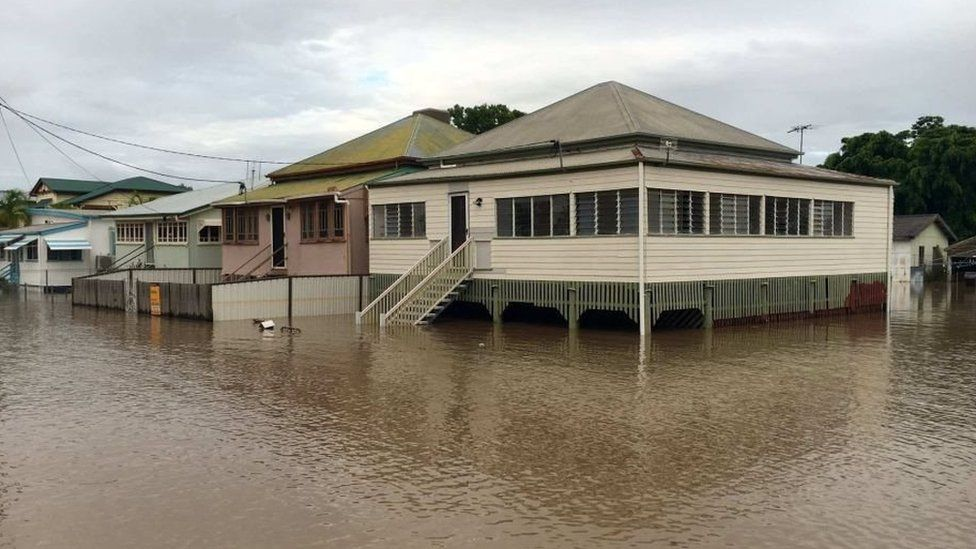 Streets in Rockhampton have been inundated