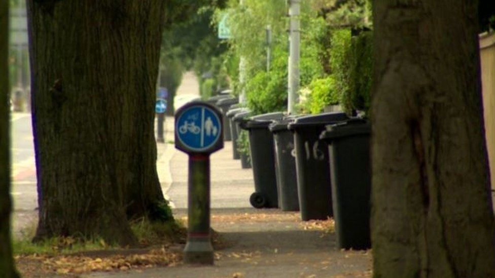 Some of the money from rates goes towards services such as bin collections