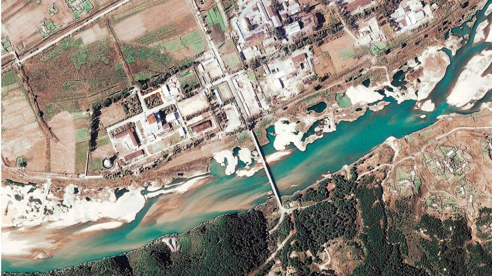 This satellite image shows the Yongbyon Nuclear Centre, located north of Pyongyang, North Korea, 7 November 2004.