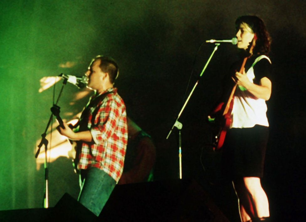 The Pixies on stage in 1990