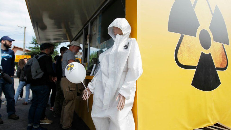 Chernobyl souvenirs available at a tour