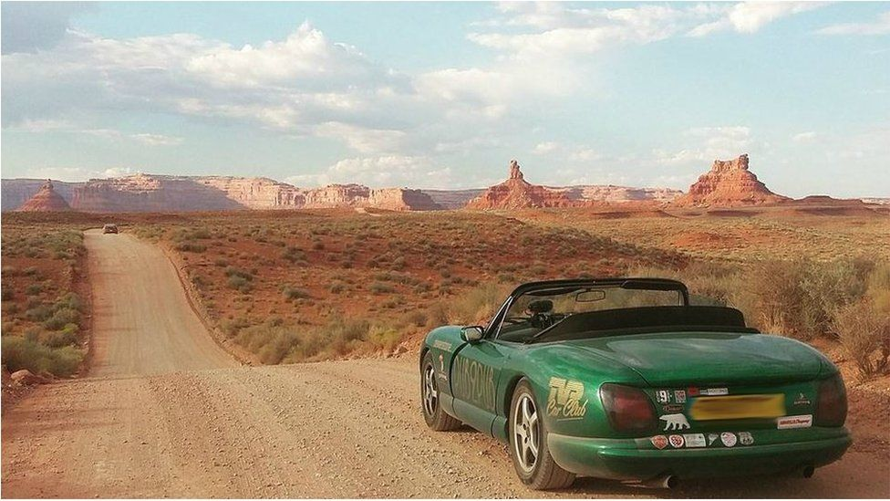 Car at Monument Valley, United States