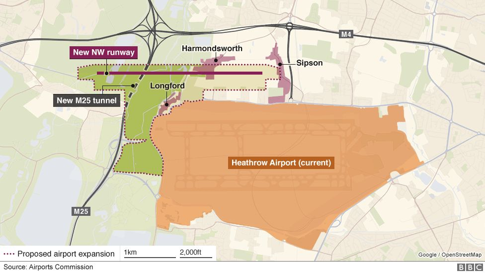 proposed site of third runway