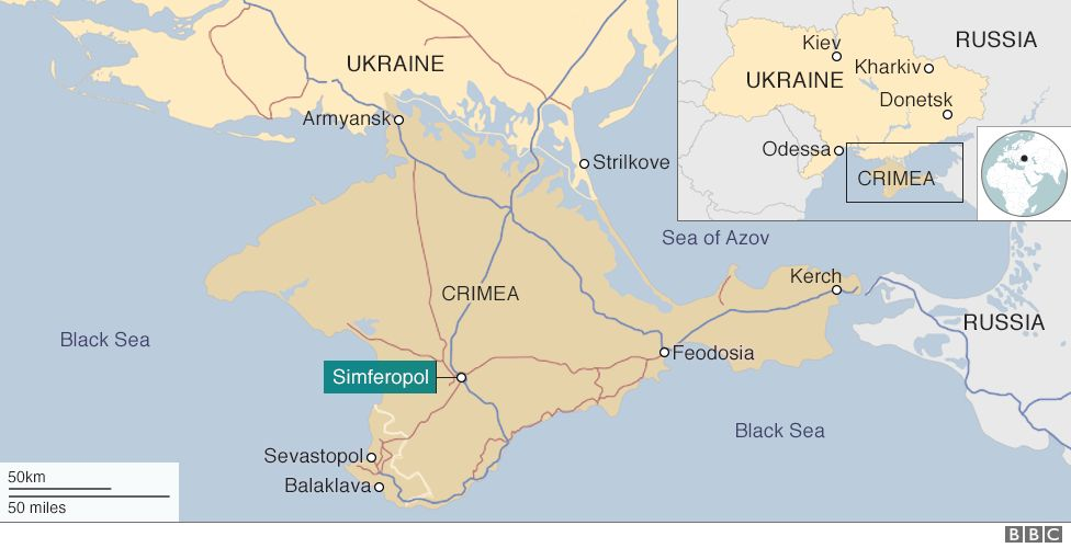 Crimea: The place that's rather difficult to get into - BBC News on show map of eastern europe, show map of romania, show map of moscow, show map of georgia, show map of asia minor,
