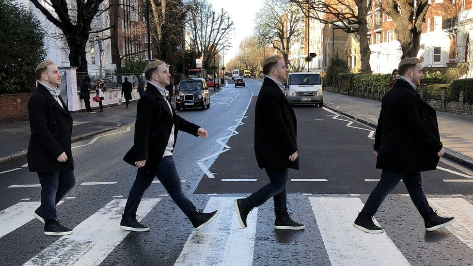 Abbey Road 50 Years Of The Beatles Famous Album Cover Bbc News