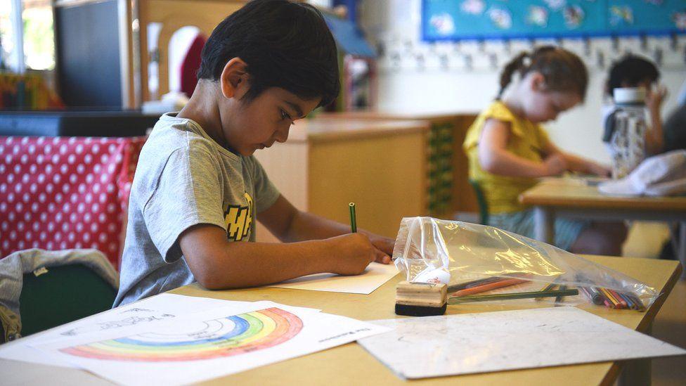 Primary pupils return
