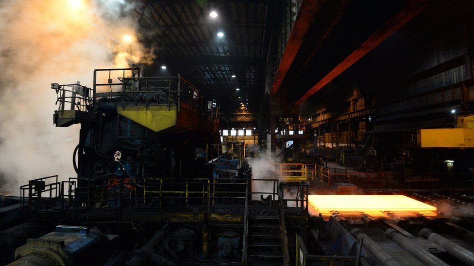 Inside the Scunthorpe steel mill