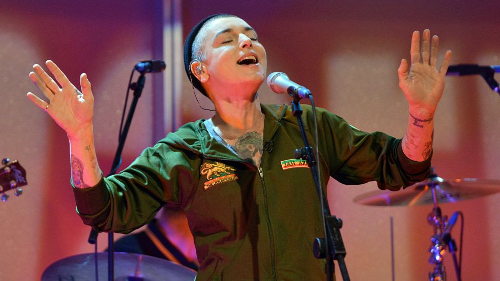 Sinead O'Connor on stage in 2013