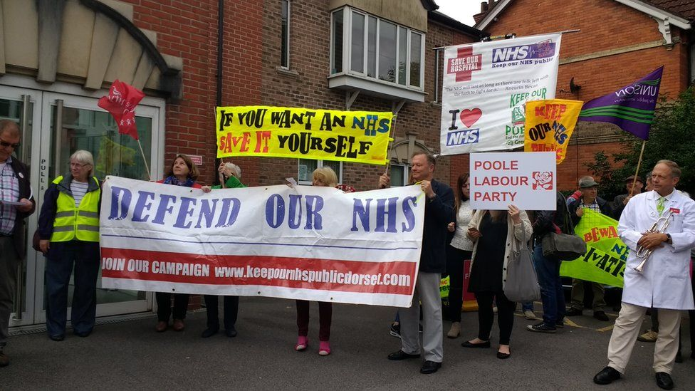 NHS protest