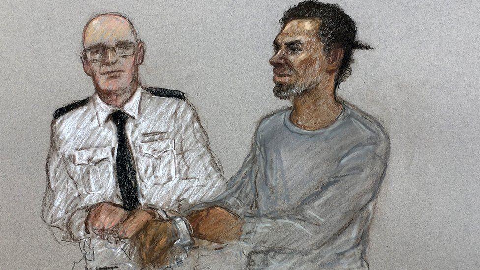 Artist's sketch of Muhammad Rodwan