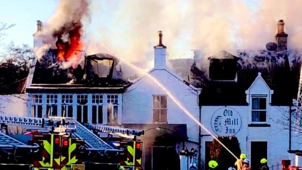 Old Mill Inn fire