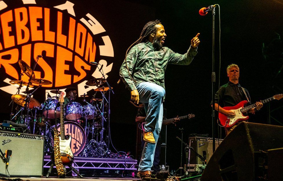 Ziggy Marley performing at Womad